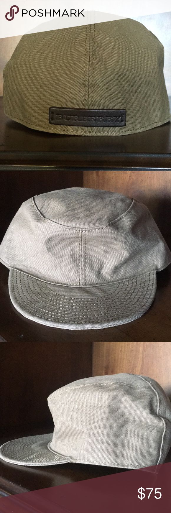 BURBERRY cotton cap Sporty Burberry cap  - New, no tags  - XL, runs small  - 100% cotton lining with leather Burberry tag on back Burberry Accessories Hats
