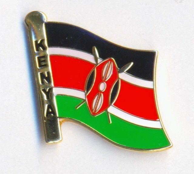 KENYA FLAG - LAPEL PIN