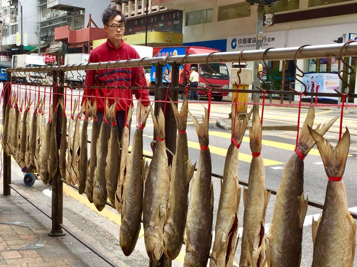 Bill ✔️ And, if you want your fresh fish dried fresh, where you can monitor the whole process.... why not hang them outside your shop on the busiest road in this part of town? De Voeux Road, Hong Kong Island, Hong Kong 🇭🇰, China. Bill Gibson-Patmore. (iPhone image, curation & caption: @BillGP). Bill😄 🇳🇿✔️.