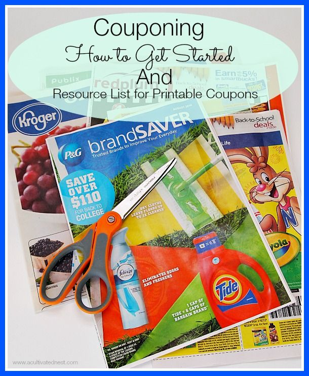 Here's a basic guide for how to get started using coupons and a list of resources for printable coupons