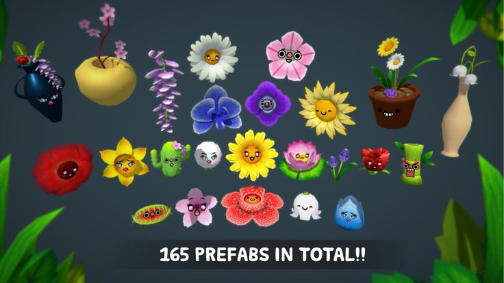 Flowers With Faces Pack on Unity Asset Store 3