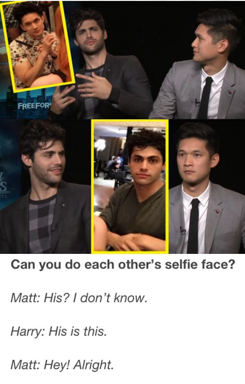 Haha Harry's impression of Matt isn't bad!