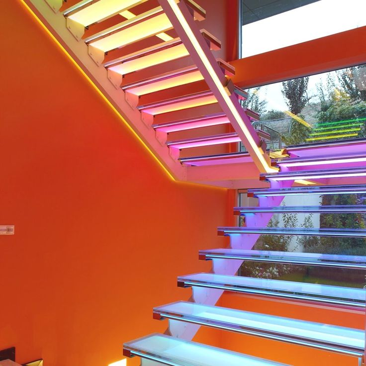 Wooden Stairs With Painted Stripes Updating Interior: 426 Best Staircase & Railings Images On Pinterest
