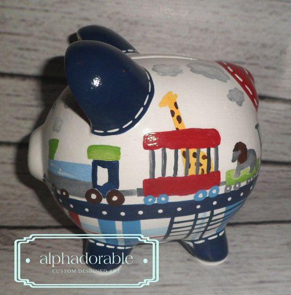 Pintada a mano artesanal cerámica alcancía personalizada