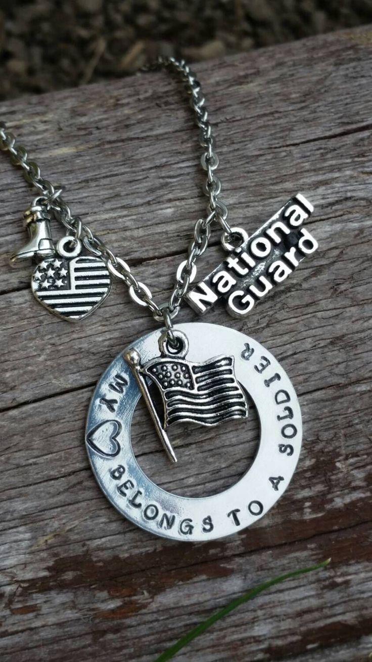 My heart belongs to a solider, national guard. by BobbiesBeadsandBling on Etsy https://www.etsy.com/listing/247878061/my-heart-belongs-to-a-solider-national