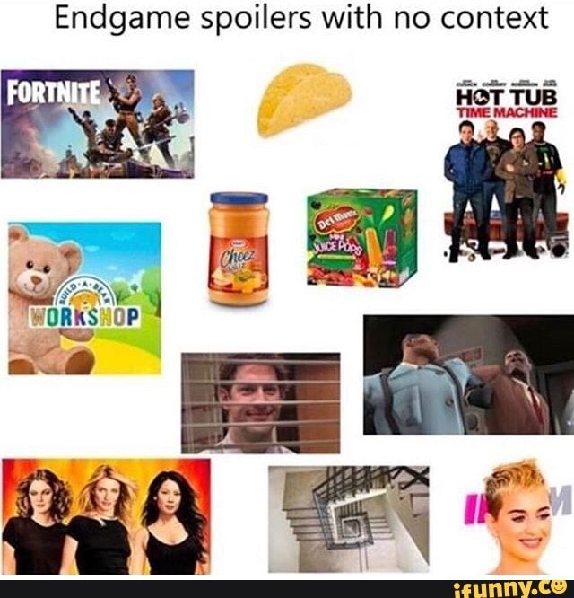 Endgame Spoilers With No Context Ifunny Memes Context Edgy Memes