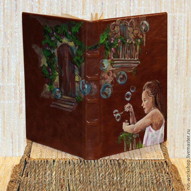 """Купить Ежедневник """"Дом Детства"""" - коричневый, ежедневник, ежедневник ручной работы, ежедневник в подарок"""