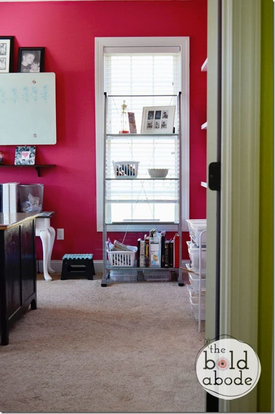 Love this PINK office from The Bold Abode!