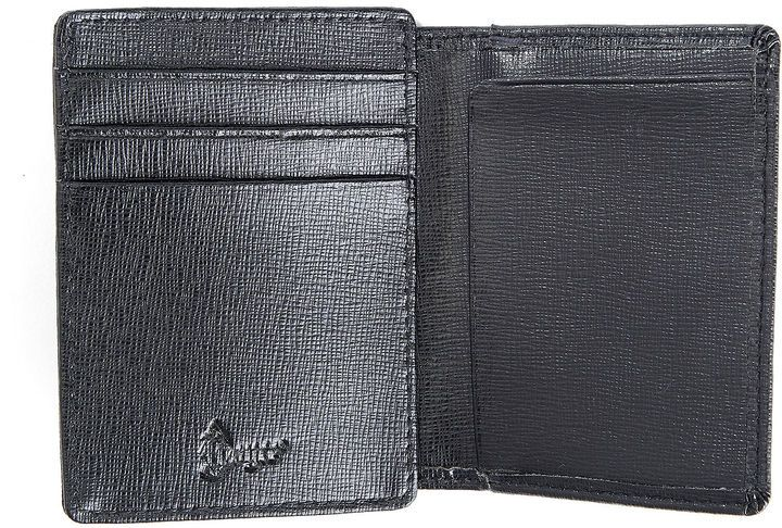 Royce Leather Royce Saffiano Cowhide Money Clip ID Wallet