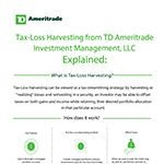 TD Ameritrade Launches Tax-Loss Harvesting Tool for Investors