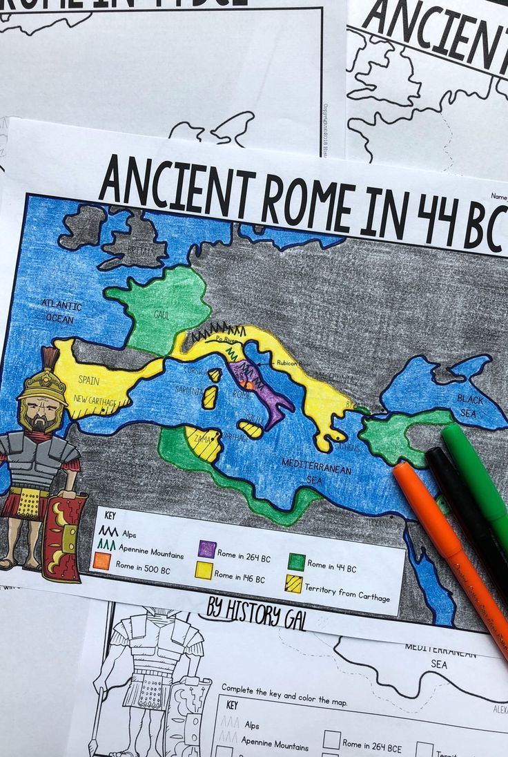 Ancient Rome To 44 Bce Map Activity History Gal Map
