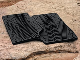 All Things Jeep - MOPAR® Jeep Front Slush Mats with Tire Tread Pattern for 2007-2013 Jeep® Wrangler JK