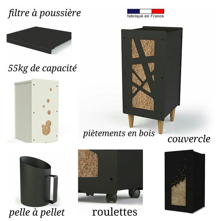 les 7 meilleures images du tableau po les granul s pellet storage ideas sur pinterest id es. Black Bedroom Furniture Sets. Home Design Ideas