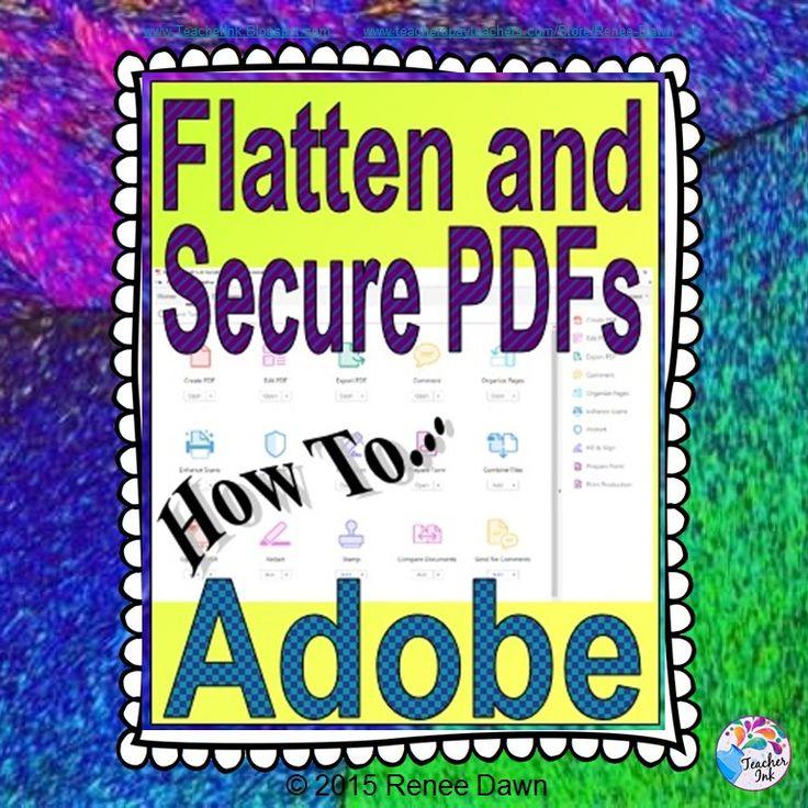 how to flatten a pdf document in acrobat xi