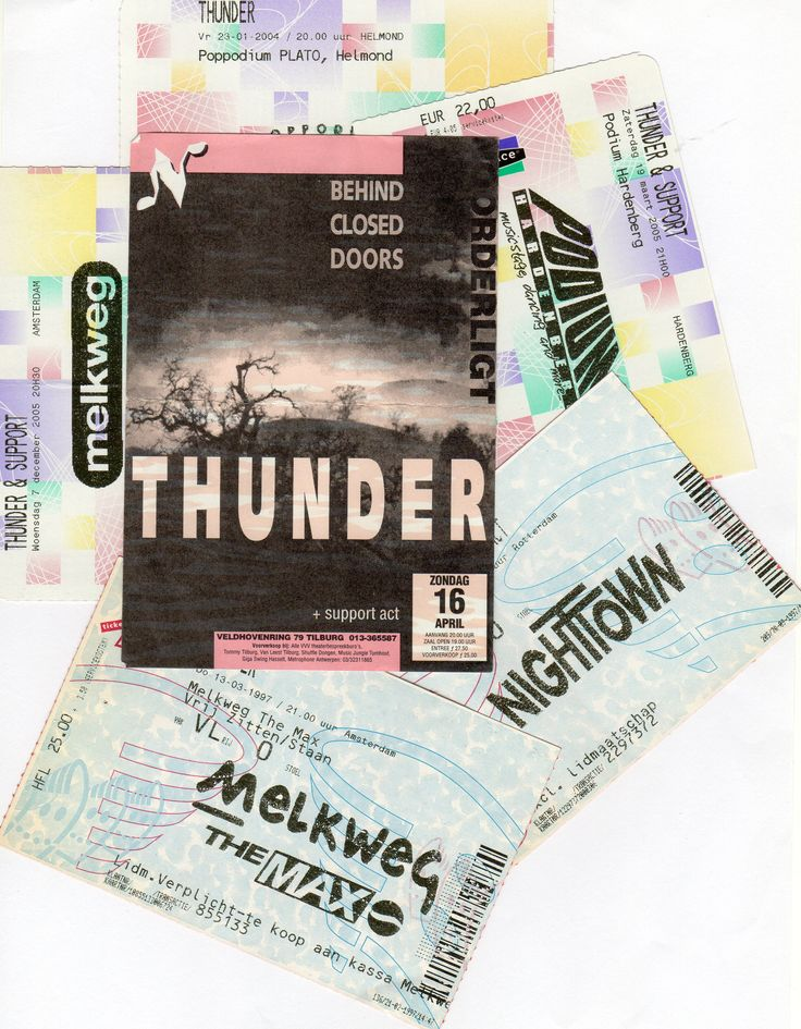 Thunder - Concert tickets