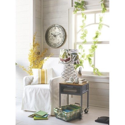 u0027urban farm home decor this picture is from target but i love the floral lampshade paired with the wire and glass base and of course vines