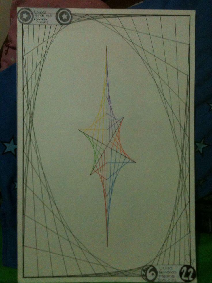 L. 22 Líneas rectas que forman curvas