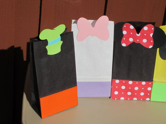 Mickey Mouse Clubhouse Favor Treat Bags by LittleBirdiPaperShop