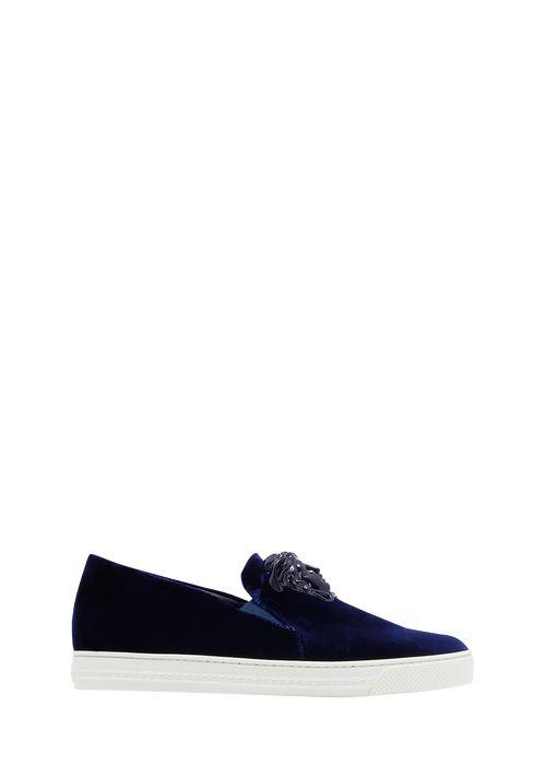 Velvet Slide On Palazzo Sneaker - Versace Sneakers