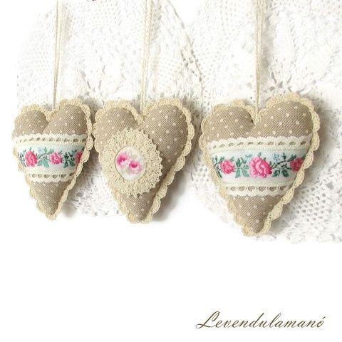 Vintage rózsás szívek  (Levendulamano) - Meska.hu