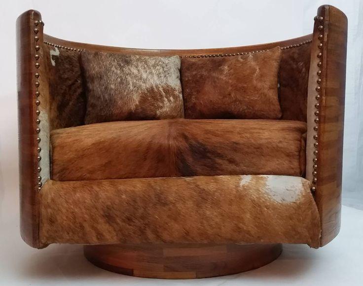 Studio Crafted Swivel Lounge Chair, Circa 1974