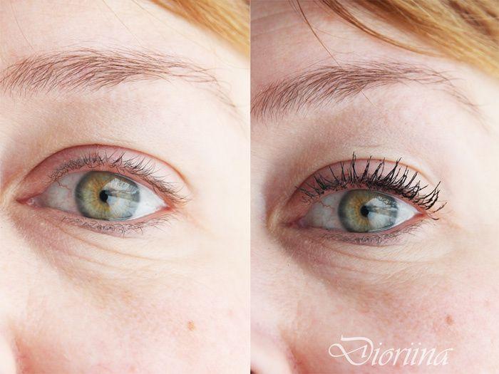 Blogger Dioriina tried our new Lumene True Mystic Volume Mascara. See the difference! #mascara #lumene