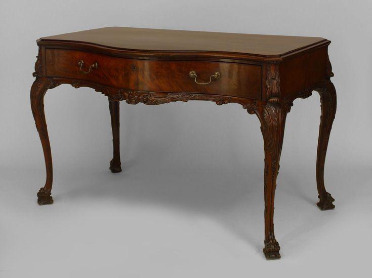 English Chippendale table desk mahogany