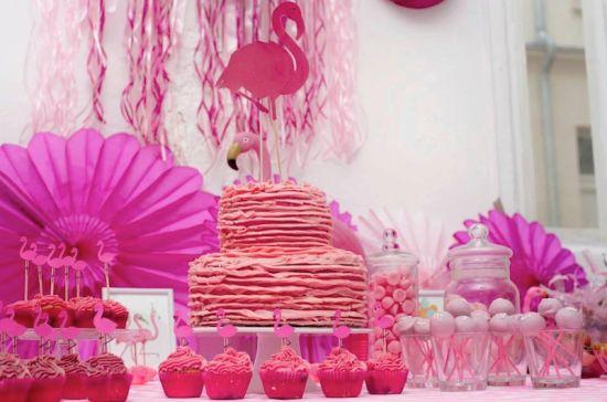 montre moi ta fete décoration anniversaire enfant rose flamant rose babayaga…