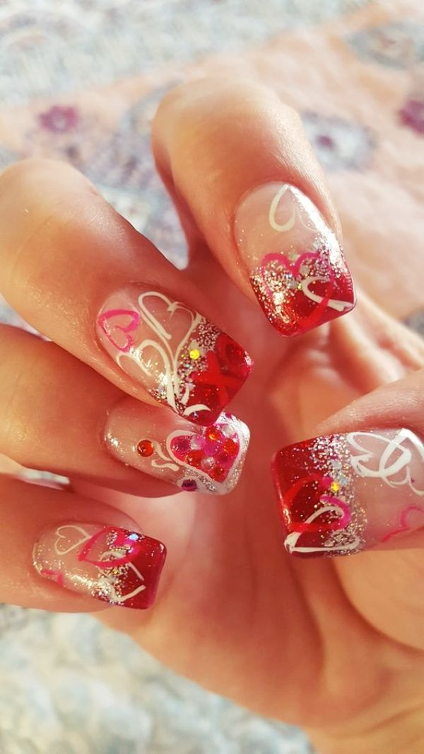 Lovely Valentines Day Nail Art Designs Nail Designs Valentines Valentine Nail Art Diy Valentine S Nails