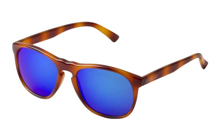 MrBoho Tortoise Williamsburg with blue lenses