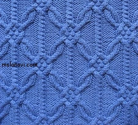 A striking cabled lattice. Love it! Charted knitting stitch.