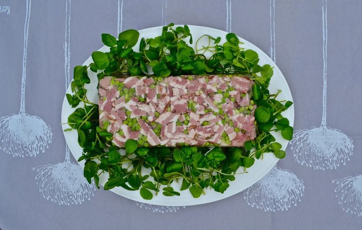 Watercress, Ham & Chicken Terrine