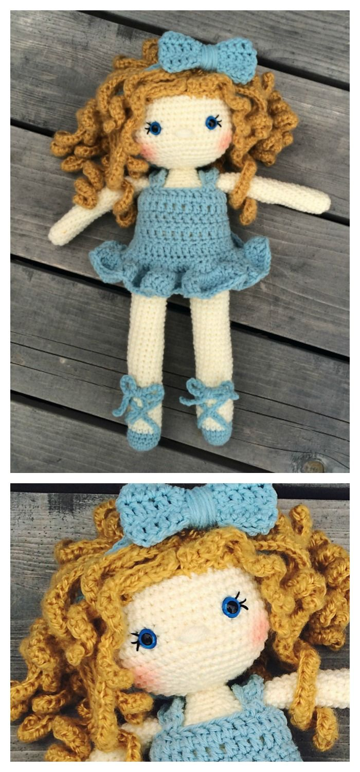 The crochet doll pattern fills a dream of mine... I always wanted to be a ballerina! Then I had to choose between basketball and dance cla...