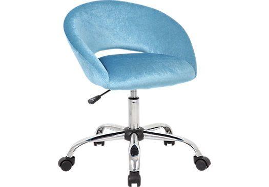 Healy Light Blue Desk Chair