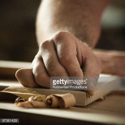 Stock Photo : USA, Utah, Orem, close-up of carpenter at work