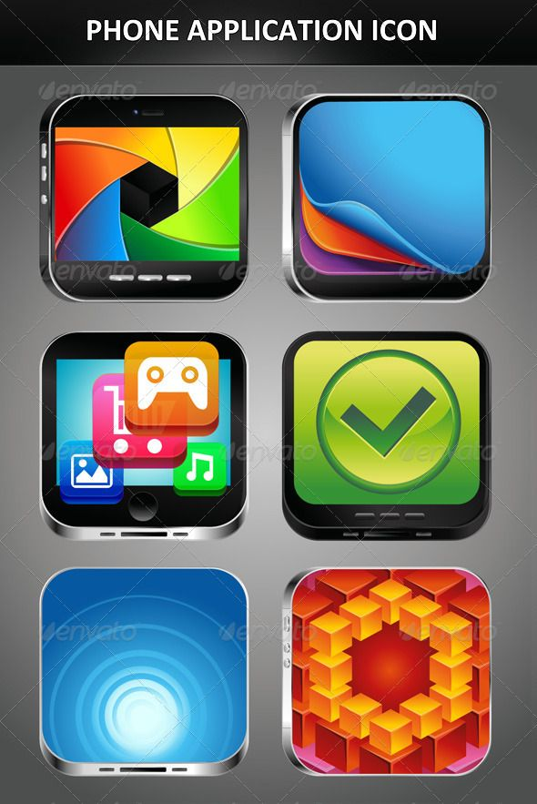 #Phone App #icons with bright screens  Get more information at : http://graphicriver.net/item/phone-app-icons-with-bright-screens/2111092?WT.ac=category_thumb_1=category_thumb_author=venimo?ref=blogginghpApp Icon