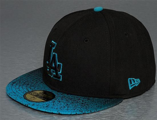 Los Angeles Dodgers Splatter Fade 59Fifty Fitted Baseball Cap by NEW ERA x MLB