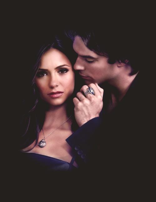 Elena & Damon/Vampire Diaries Nina Dobrev & Ian Somerhalder also real life couple :-)