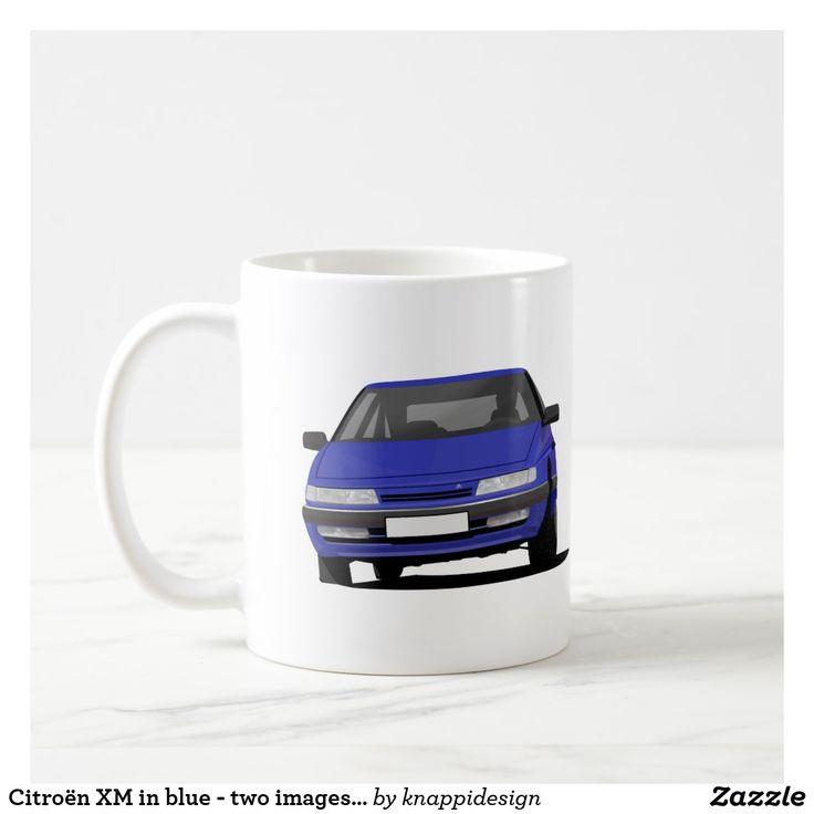Citroën XM in blue - two images - coffee mug.   #citroen #citroën #citroenxm #citroënxm #european #futureclassics #automobile #automobiles #car #auto #bilar #automobileillustration #carillustration #coffee mug #citroenmug #blue
