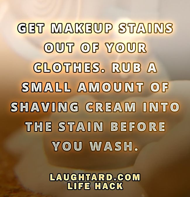 Life hack to remove makeup stains from clothes