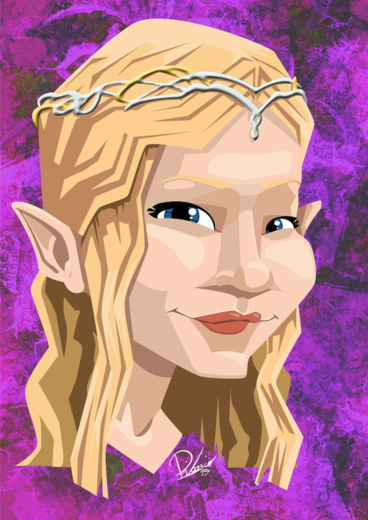 Cate Blanchett in the role of Galadriel - caricature by Ribosio #thelordoftherings