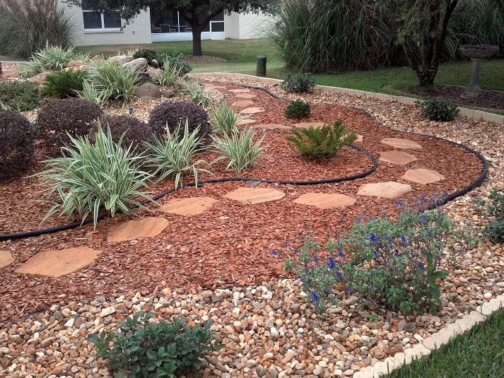Best 20 rock yard ideas on pinterest yard rock pathway for Garden design ideas without grass