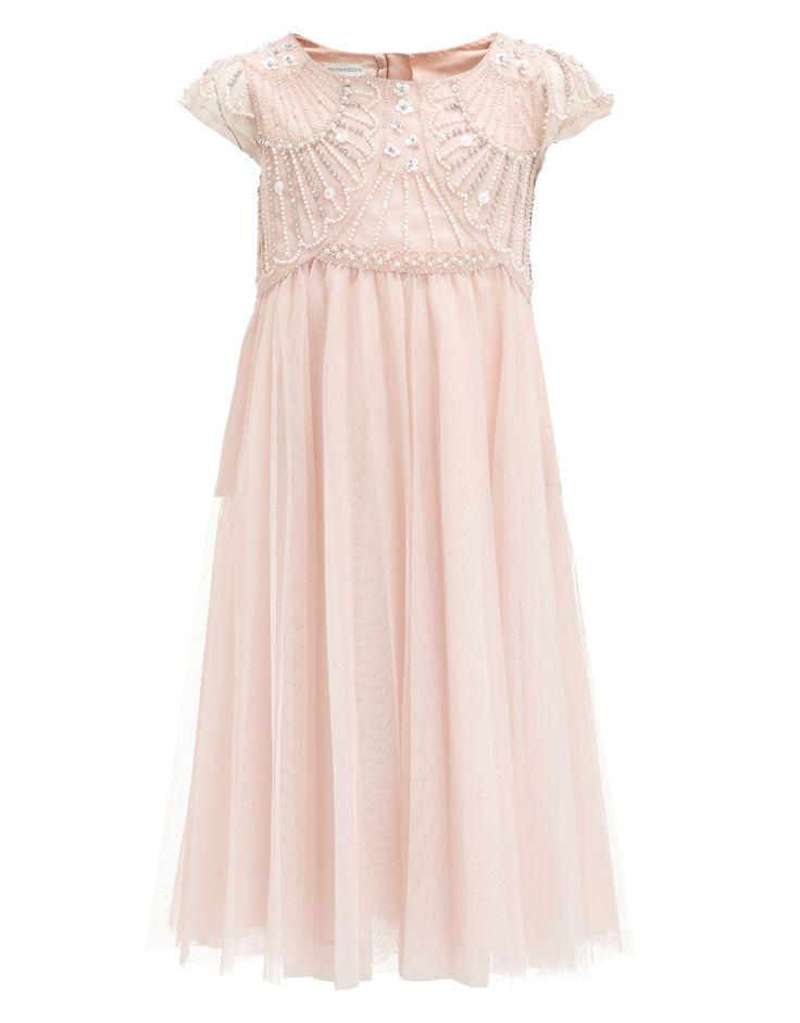 Chantilly Embellished Dress | Pink | Monsoon