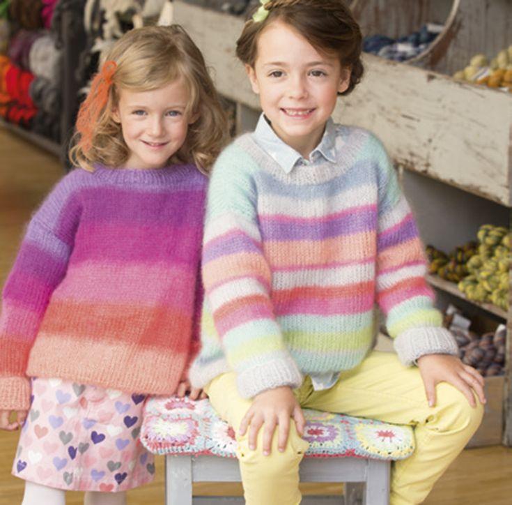 PULLOVER Silkhair - von Lana Grossa FILATI Kids & Teens No. 2 Modell 13 links