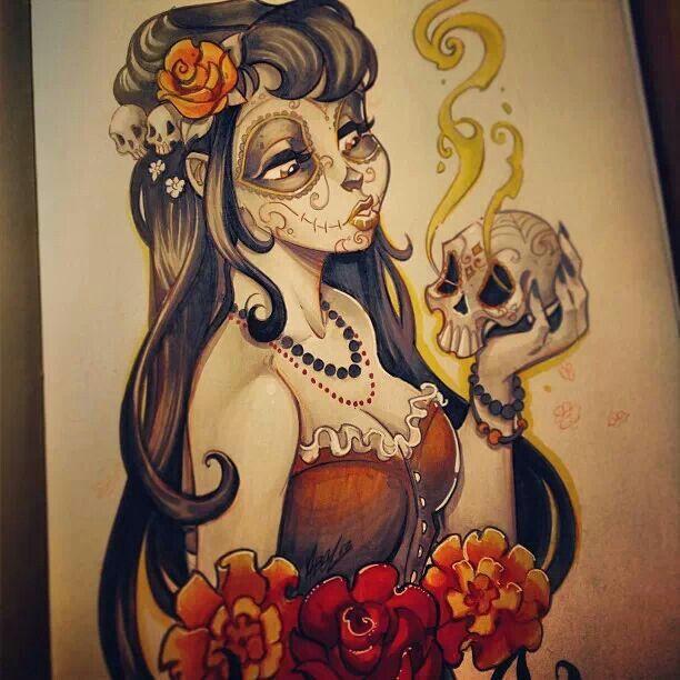Artist Martin Abel Dead of the Dead sketch