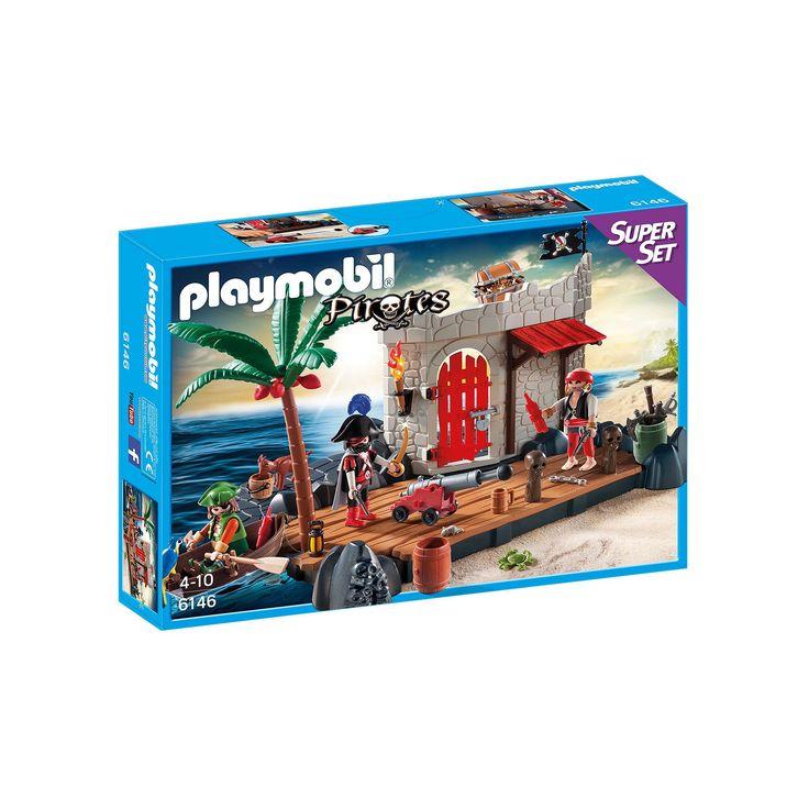 Playmobil Pirates Pirate Fort Super Set - 6146, Multicolor