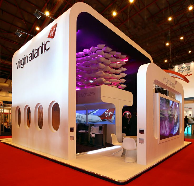 Simple Exhibition Stand Goals : Careful use of space and height ensured the stand was in