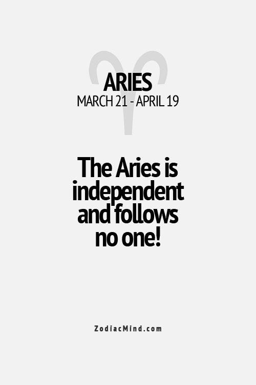 Aries horoscope dates