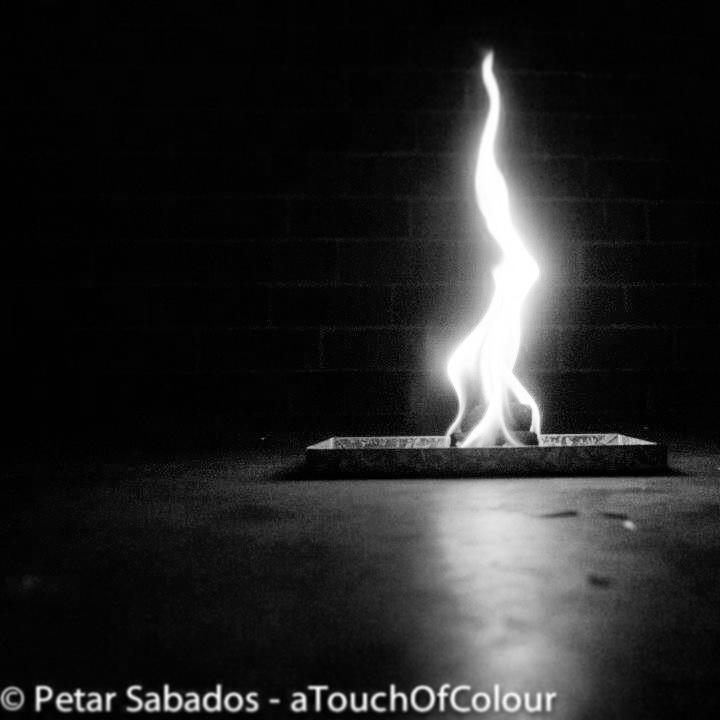 B/w flame