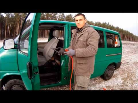 SOS   Feuer machen mit der Auto-Batterie & Starthilfekabel Survival Mattin  VW Bus T4
